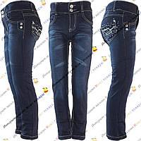 Синие детские джинсы для девочек от 3 до 8 лет (hz302)