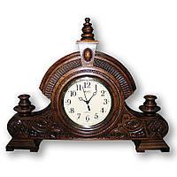 Часы резные, часы настольные, годинник різьблений, годинник із дерева