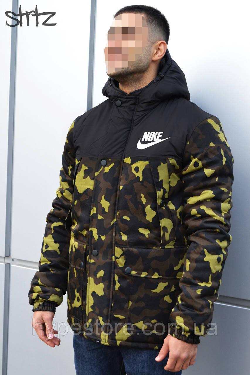 3d809309e87c Мужская зимняя камуфляжная куртка-парка, зимова куртка Nike, Реплика ...