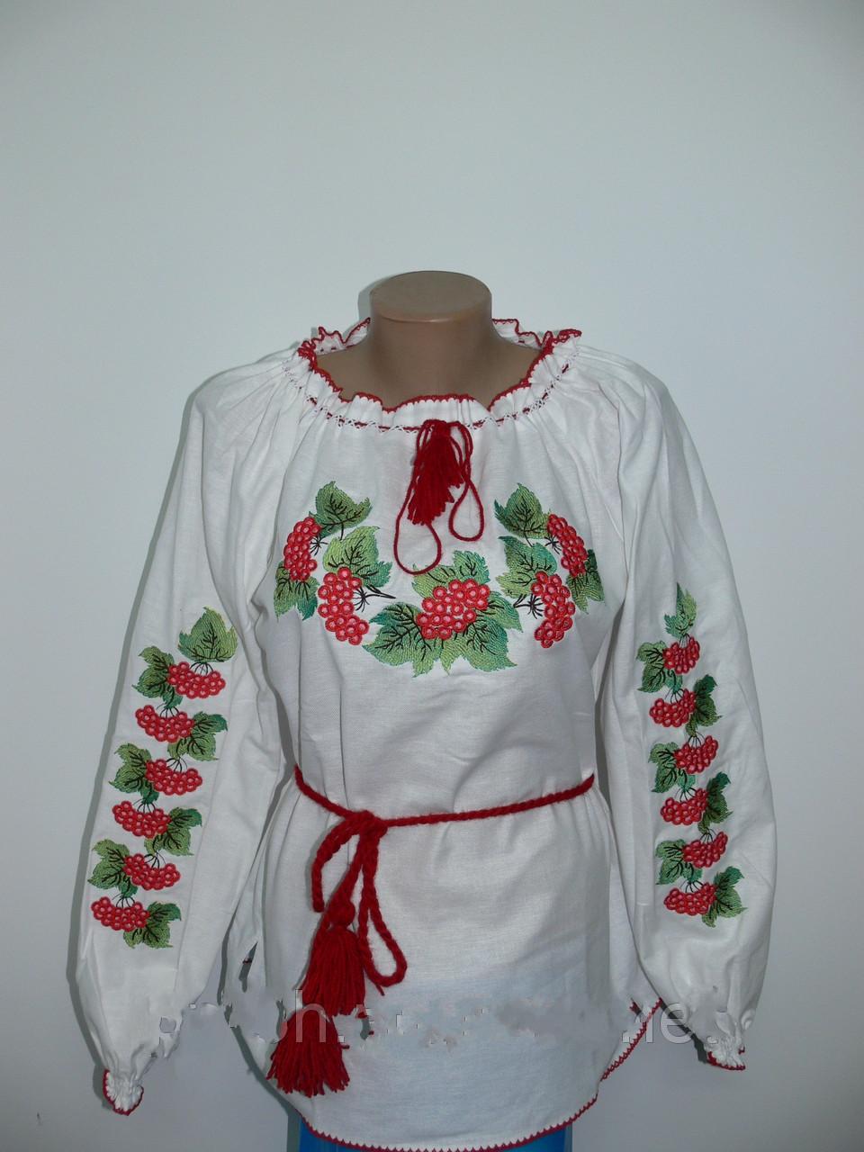 Жіноча вишита сорочка з калиною великі розміри - Интернет магазин одежды  Жасмин. в Хмельницком 6720260dea097