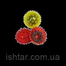 Массажный шарик Су-джок (Ёжик)( комплекте с двумя кольцевыми пружинами.)