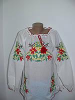 Женская вышиванка с лилиями больших размеров