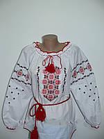 Вишиванка жіноча вишита хрестиком , фото 1
