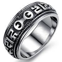 """Мужское кольцо """"Знаки"""" из нержавеющей стали, фото 1"""