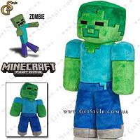 """Плюшевая игрушка Зомби из Minecraft - """"Zombie Toy"""" - 32 см. , фото 1"""