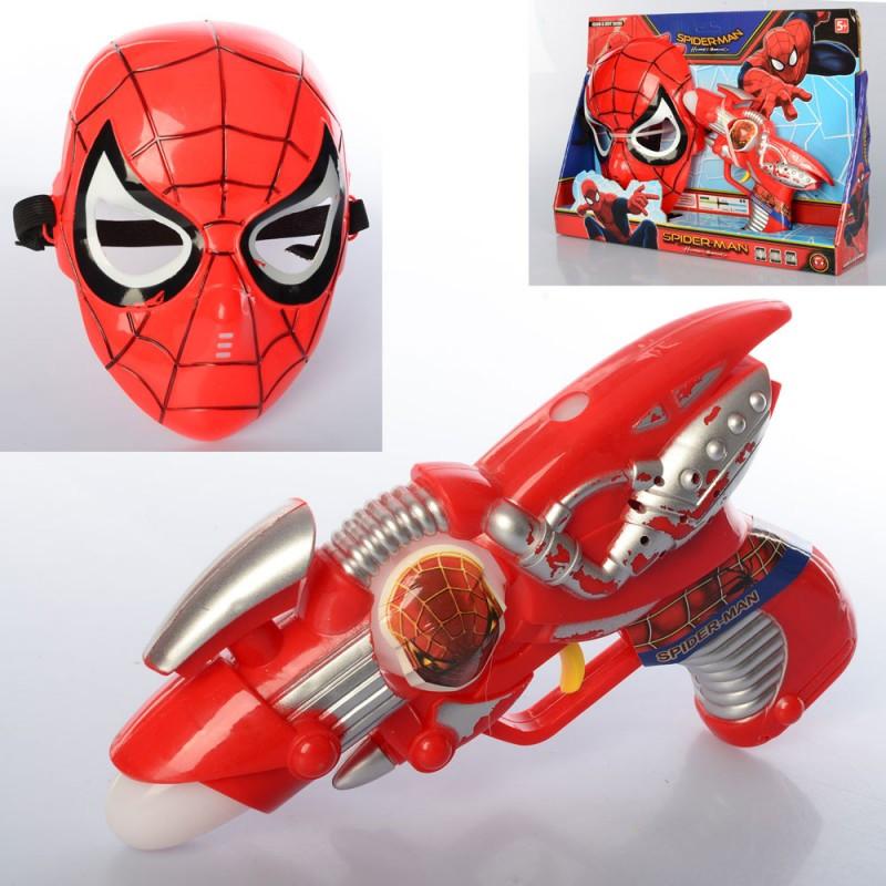 Игровой набор супергероя - спайдермен с пистолетом (свет, музыка), 530-F