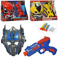 Игровой набор супергероев: маска Спайдермена, Бамблби и трансформера с оружием, 130-E-530-Е 