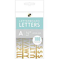 Літери (буквы) для дошки DCWV Letterboard - Gold - 1,2 см.