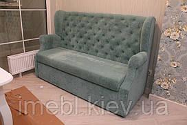 Кухонний диван з гудзиками на спинці (Блакитний)