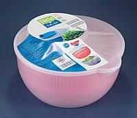Сушка карусель (Центрифуга) для ягод, овощей, фруктов и зелени пластиковая диаметр 25 см OST-029