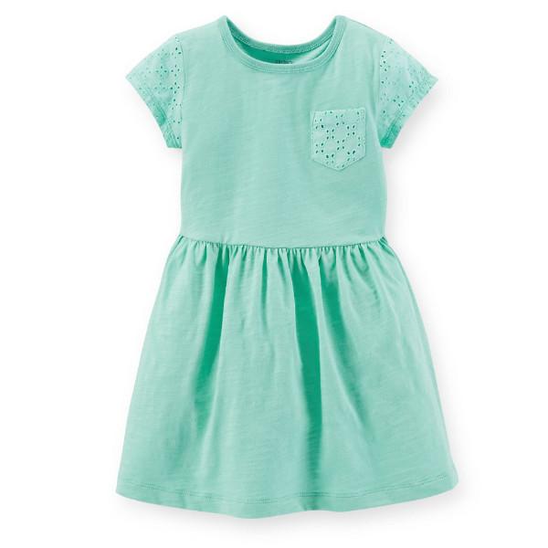 Платье для девочки Carters мятное
