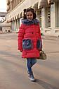 """Зимнее пальто """"Полианна"""" Nui Very c накладными меховыми карманами Размеры 116- 158, фото 6"""