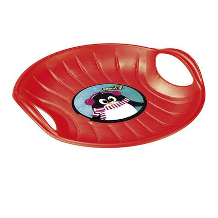 Зимние санки-диск SPEED-M, красные, фото 2