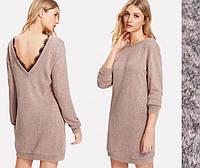 Женское стильное платье с открытой спиной