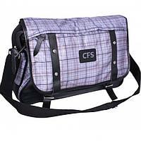 "Сумки Cool for school CF85238 серый 28х39,5х9  гориз.полиэстр ""Leaden"" мягкая спинка, 1 отд., 1 кар"