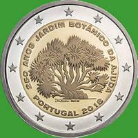 Португалия 2 евро 2018 г. 250-летие Ботанического сада Ажуда в Лиссабоне . UNC