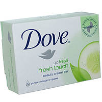 Мыло кусковое туалетное Dove 135гр крем  прикосновение свежесть