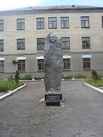 Скульптура гранитная с серого гранита