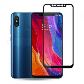 Стекло Full Coverage Xiaomi Mi 8 цвет Black