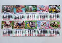 Календарь магнит на холодильник Год Свиньи 2019 малый 12*8,5 см микс