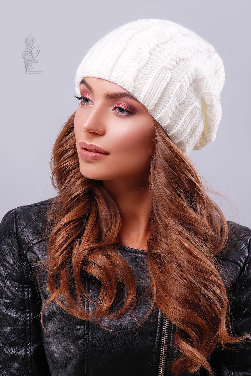 Вязаные женские шапки Ула-3 нить шерсть-акрил