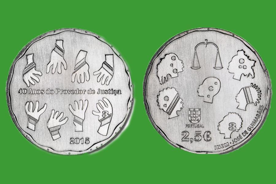 Португалия 2,5 евро 2015 г. Праведор юстиции, UNC