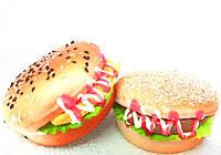 Большой Сквиши Гамбургер на магните ароматизированный Squishy Анти-стресс