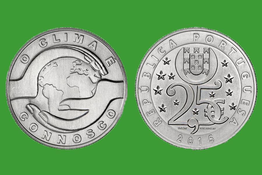 Португалия 2,5 евро 2015 г. Изменение климата, UNC