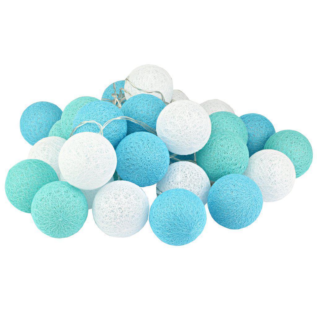 Гирлянды декоративные Cotton Balls 30led, диам 6см, длина 540см на батарейках АА