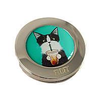 Держатель для женской сумки с рисунком «Кот со стаканом», фото 1