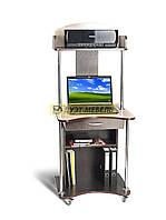 Прямой мобильный компьютерный стол с надстройкой СК-3