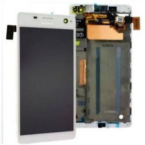 Дисплей с тачскрином Sony E5333, E5343, E5353, E5363, E5303, E5306 Xperia C4 Dual Sim белый в рамке (HQ)