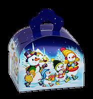 """Упаковка картонная """"Мини-Сундучок Снеговичок"""" для сладостей 150-200г"""