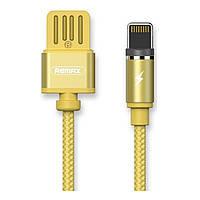 Магнитный Lightning кабель Remax Gravity RC-095i, 1m gold