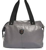 5f048a9c402f Спортивная женская сумка из эко кожи бочонок Wallaby art. 571468 серая с  блеском
