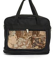 Вместительная мужская текстильная сумка черного цвета с двойным дном WALLABY art. 20711 Украина, фото 1