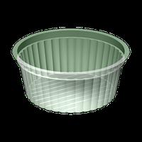 Контейнер круглий з кришкою УК-110Б, PET, прозора, 200 мл, 2000 шт/уп