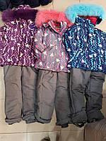 Роздільний зимовий комбінезон Reimo для дівчинки оптом.