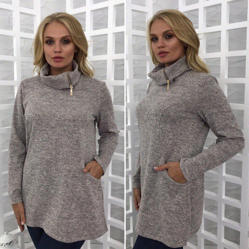 Блуза женская свободного кроя ангора