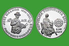 Португалия 2,5 евро 2012 г. Художник Хосе Мальхоа, UNC