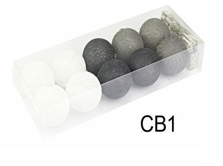 Гирлянды декоративные Cotton Balls 10led, диам 6см, длина 180см на батарейках АА, фото 2