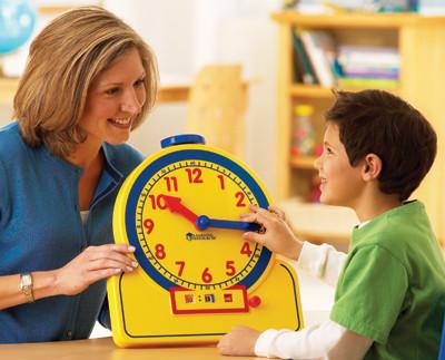 Большие демонстрационные часы Learning  resources  (ler2996)