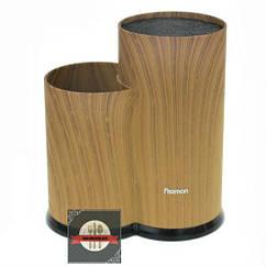 Подставка универсальная с двумя отделениями из пластика 20х13х22.5см для кухонных ножей и ножниц Fissman