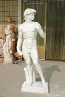 Мраморная скульптура с белого мрамора
