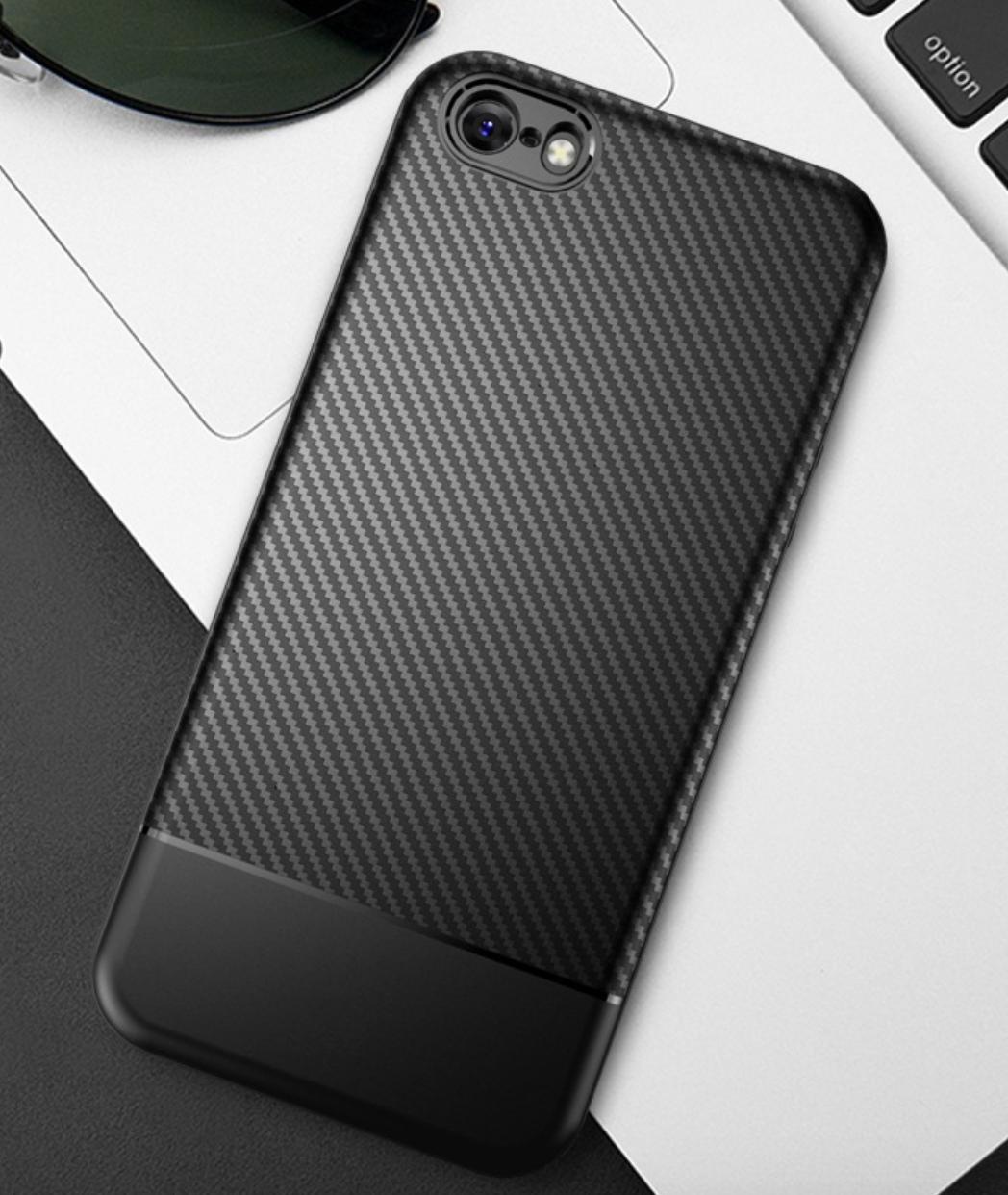 Чехол накладка противоударный Carbon NEW для iPhone 5/5s/se