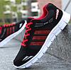 Кроссовки Sport черно-красные