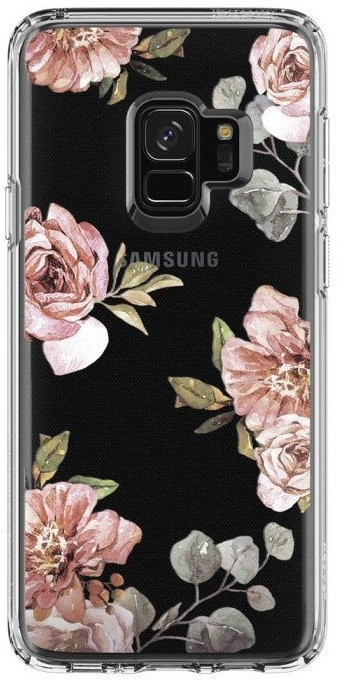 Накладка Spigen Liquid Crystal для Galaxy S9 [Blossom Flower (592CS22829)]