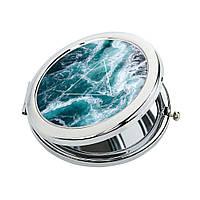 Косметическое зеркальце для девушки «Океан», фото 1