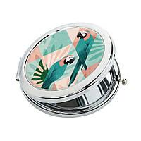 Косметическое зеркало для девушки «Попугай»