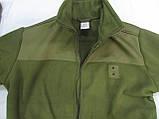 Кофта флисовая хаки milt-3/2 с накладками на плечах и локтях для военнослужащих, фото 2